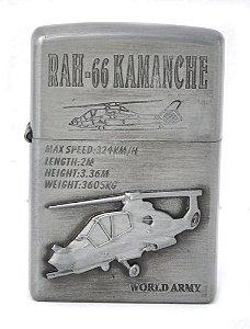 isqueiro prateado rah-66 kamanche - noble elegant
