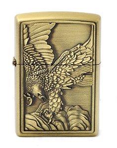 isqueiro cor bronze aguia - noble elegant