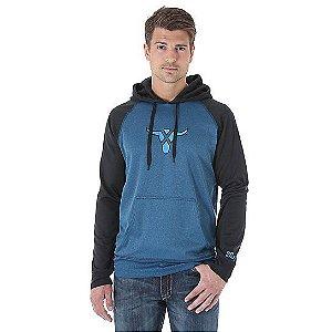moletom com capuz hoodie azul e preto - wrangler 7120x191m40