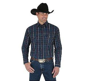 camisa george strait wrangler 41mgs64bk1o