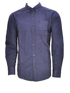 camisa masculina gunter fantasia azul idem wrangler