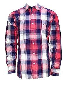camisa masculina casual xadrez wrangler 41a05ta59