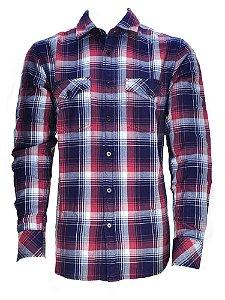 camisa masculina indigo azul rojo blanco wrangler 41c47c14a