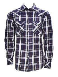 camisa masculina new western azul negro maiz wrangler 41s36i7c1