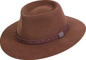 chapéu almir sater estradeiro feltro café pralana  - 12310