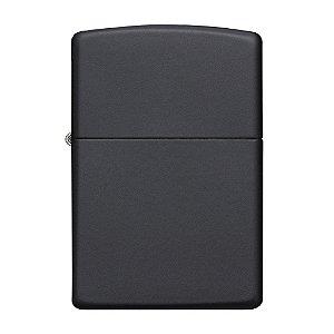 isqueiro aço preto fosco - zippo 218