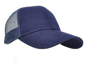 boné azul marinho tela azul marinho básico