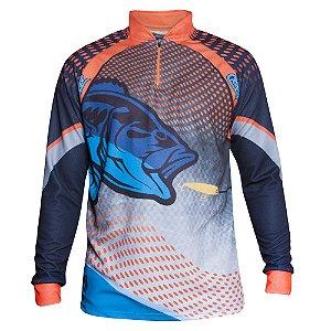 camiseta masculina dry fit best fisher laranja carnaval clonker