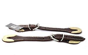 correia de espora marrom escura top equine - 11081
