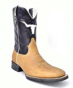bota bico quadrado cano azul pé caramelo vimar - 81159