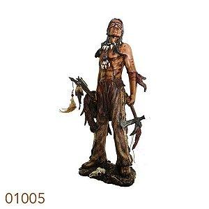 indio guerreiro/instrumentosldway 50x20x17cm 10005