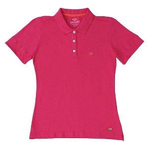 polo basic rosa feminina wrangler - 7265595l2
