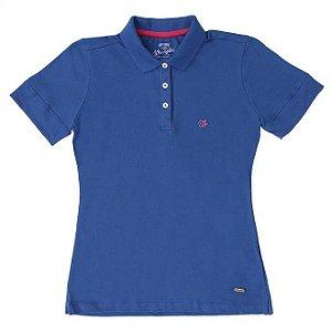 polo basic azul turqueza feminina wrangler - 7265595c9