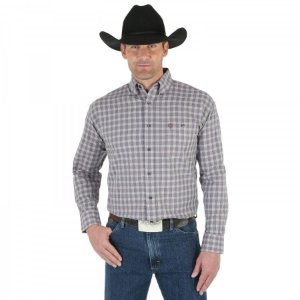 camisa wrangler george strait cinza -  41mgsr287