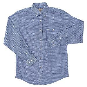 camisa wrangler balaiada azul - 41mg2078m