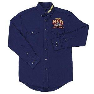 camisa wrangler nfr las vegas azul marinho -  41mp201on