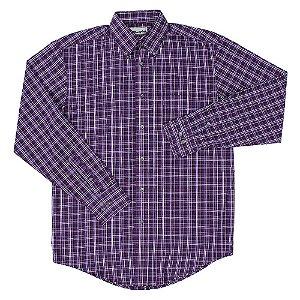 camisa wrangler riata xadrez roxa - 41mr2078a