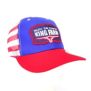 bone king farm azul tela bandeira enjoy