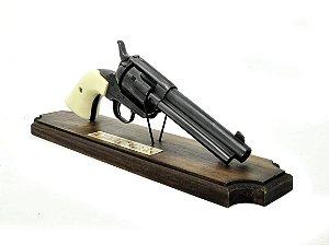 "réplica de resina colt peacemaker 4"" model artillery .45 - suporte"