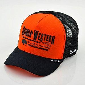 boné trucker gringa´s hey jack laranjado - 011