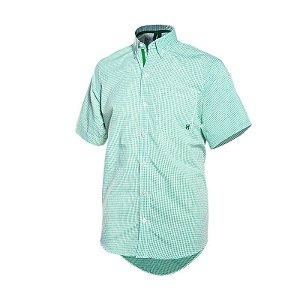 camisa manga curta txc xadrez verde - 2088