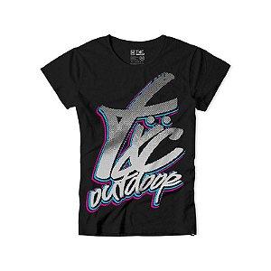 camiseta feminina baby look txc preta - 4020