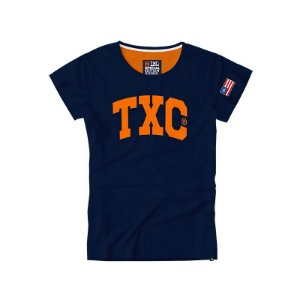 camiseta baby look txc feminina azul marinho - 4038