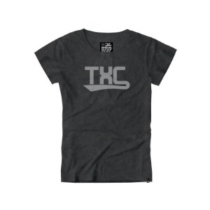 camiseta feminina baby look txc preto - 4043