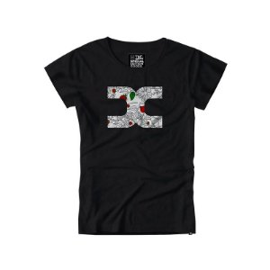 camiseta feminina baby look txc preto - 4047