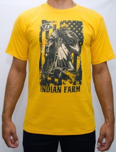 camiseta indian farm amarela indio aguia