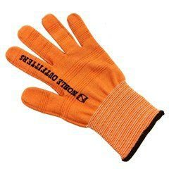 luva para laço laranja/ preta  gg/xl noble