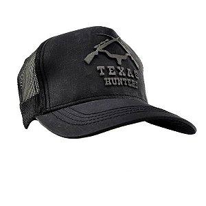 boné texas hunters preto tela preta rifle