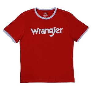 camiseta wrangler retro 71a45n01u vermelha