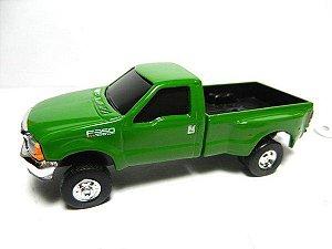 brinquedo camionete f 350 verde - tomy