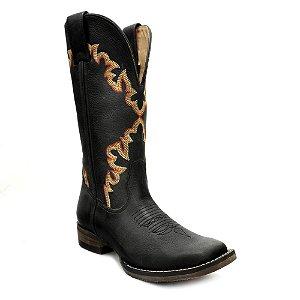 bota feminina pit stop preto goyazes - 183261cf