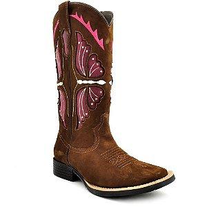 13069 bota nobuk taupe com florão vimar boots