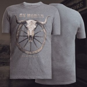 camiseta ox horns cinza escuro longhorn 1127