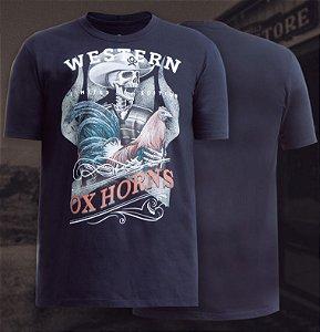 camiseta ox horns preta 1082