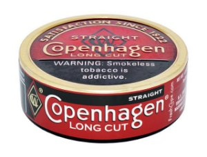 fumo de mascar copenhagen - long cut straight