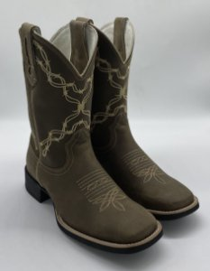 bota bico quadrado dallas brown 50019 - bulls horse