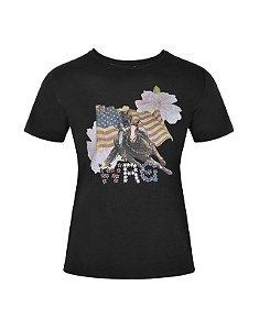Camiseta Fashion Feminina Preta WF58549PR - Wrangler