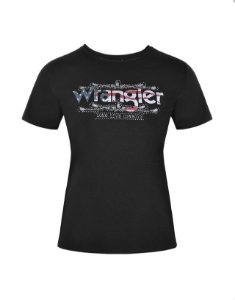 Camiseta Fashion Feminina Preta WF5854PR - Wrangler