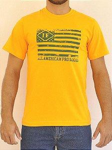 Camiseta Amarela Bandeira U.S.A Verde - Indian Farm