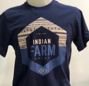 CAMISETA INDIAN FARM AZUL VINTAGE
