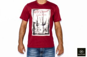 CAMISETA INDIAN FARM VINHO WILD DESERT