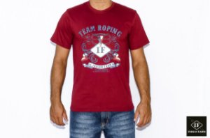 CAMISETA INDIAN FARM VINHO TEAM ROPING IF