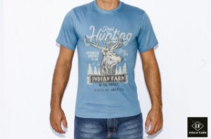 CAMISETA INDIAN FARM AZUL TURQUESA REAL HUNTing