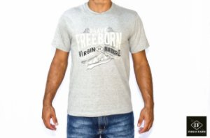 CAMISETA INDIAN FARM CINZA BRAVE FREEBORN
