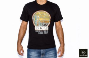 CAMISETA INDIAN FARM PRETA ROAD TRIP ARIZONA