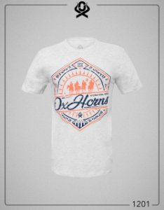 Camiseta Cinza Claro 1201 - Ox Horns